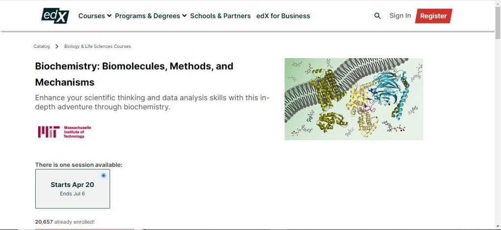 Biology and life sciences course by edx
