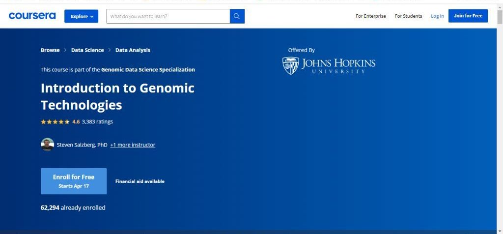Introduction to Genomic Technology