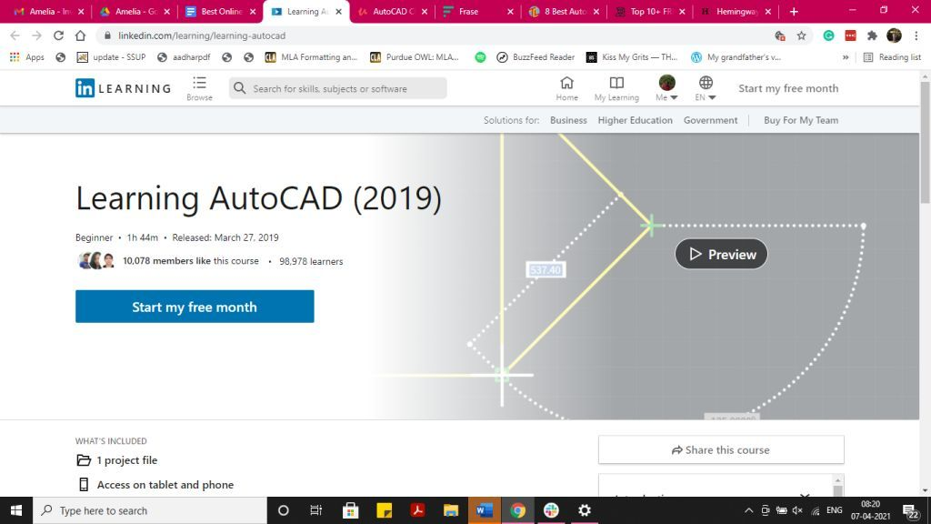 AutoCad LinkedIn Learning