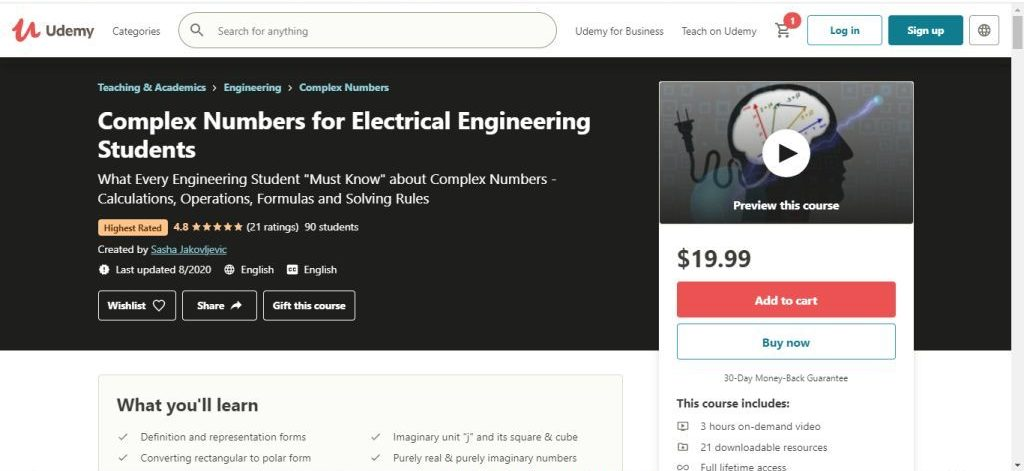 Complex Numbers for Electrical Engineerig Students