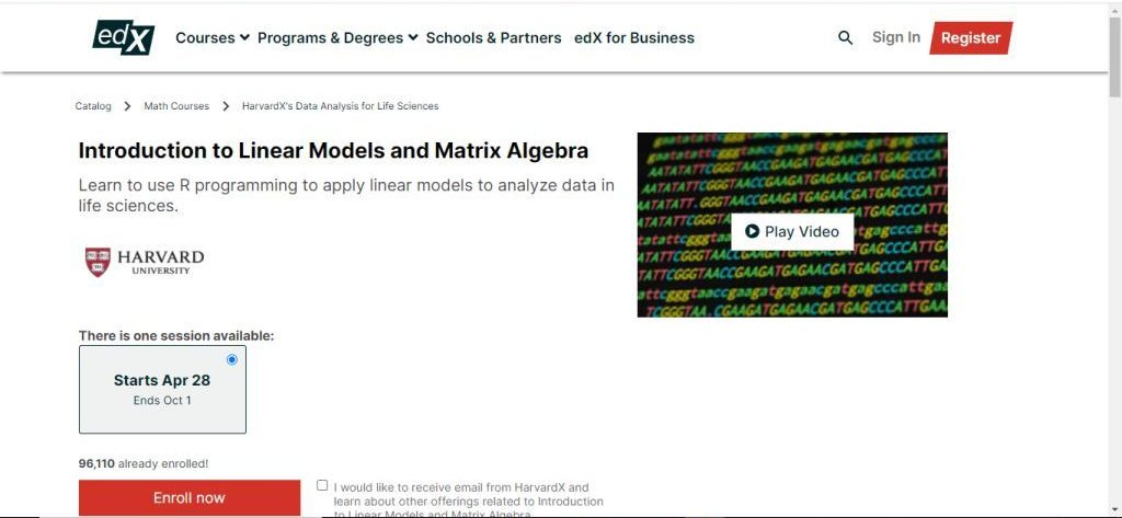 Introduction to Linear Models and Matrix Algebra