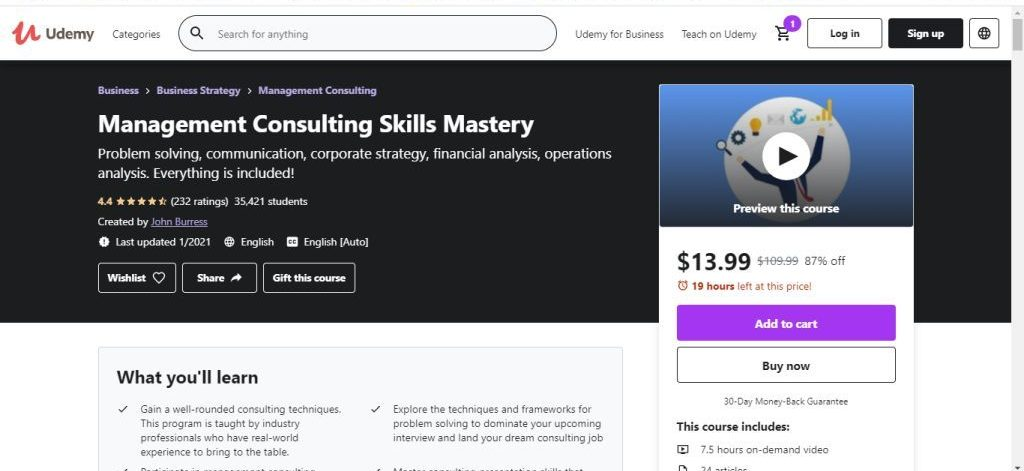 Management Consulting Skills Mastery (Udemy)