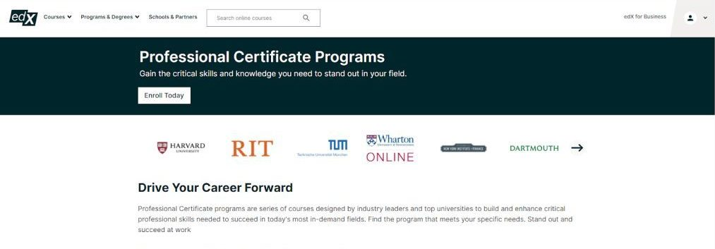 The Professional Certificate Programs