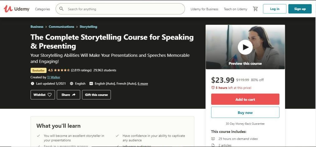 The ComplSpeaking & Presenting (Udemy)