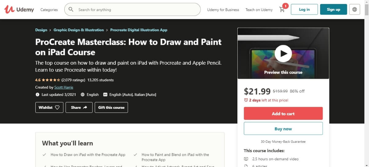 procreate masterclass how to draw and paint on ipad course